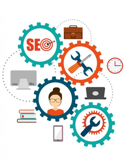 seo concept design, vector illustration eps10 graphic